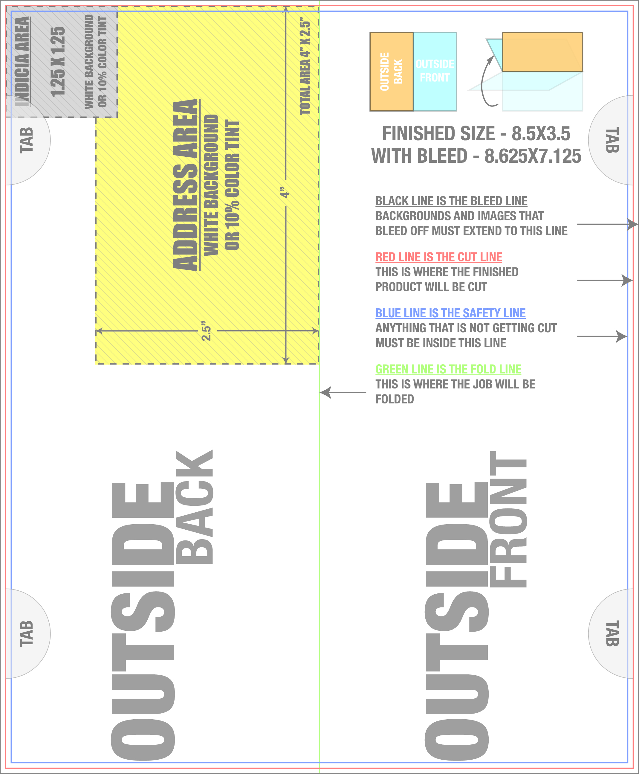 Welcome To Tradeovercom - Vertical postcard template